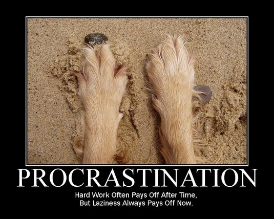 Post image for Why you procrastinate